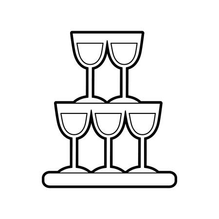 champagneglazen piramide drinken evenement viering vector illustratie