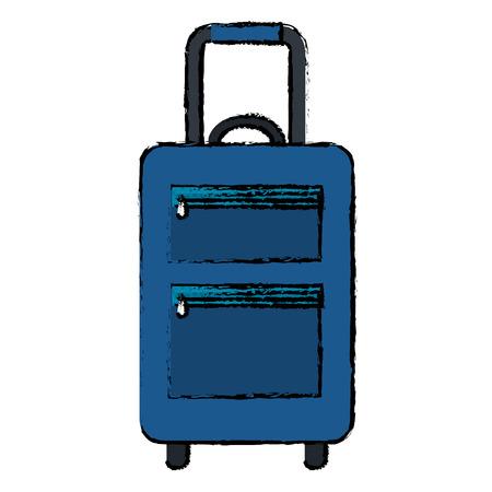 suitcase travel isolated icon vector illustration design Banco de Imagens - 88555477