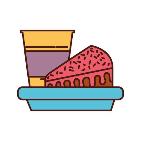 誕生日ケーキやソーダ スナック食品料理ベクトル図