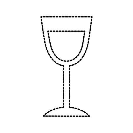birthday wine glass drink toast celebration vector illustration Banco de Imagens - 88555792