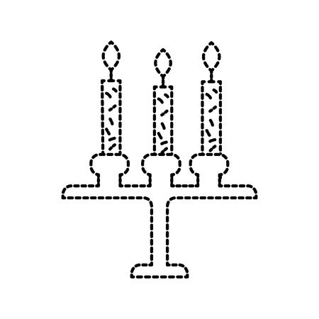 birthday chandelier with candles decoration ornament design vector illustration Çizim