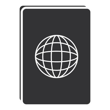 Documento de passaporte isolado ícone vector ilustração design Foto de archivo - 88668001