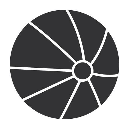 beach balloon plastic icon vector illustration design