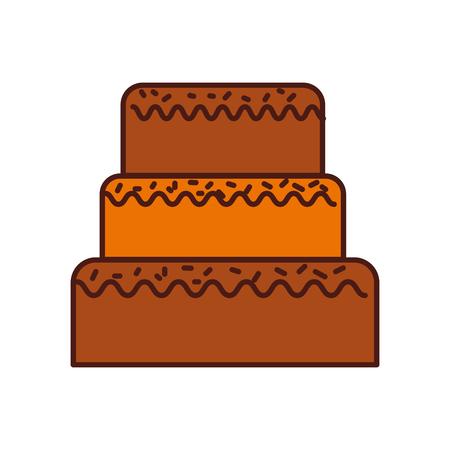 誕生日パーティーのための甘いケーキ装飾ベクトル図