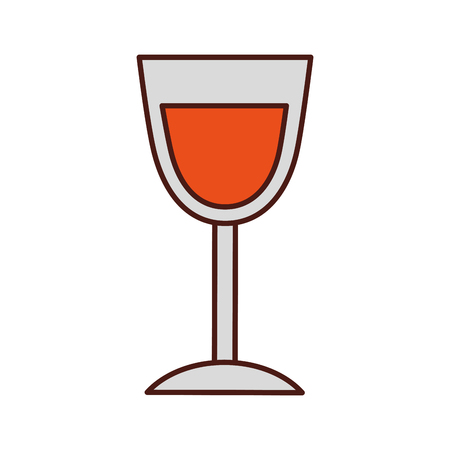birthday wine glass drink toast celebration vector illustration Çizim