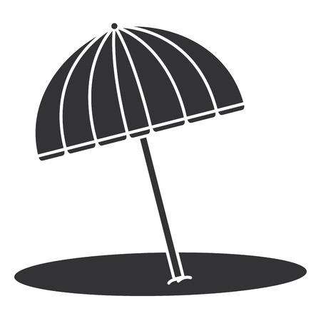 Strandparaplu geïsoleerd pictogram vector illustratie ontwerp Stock Illustratie