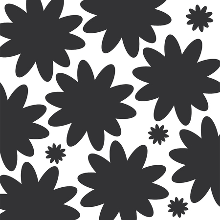 beautiful flower pattern background vector illustration design Illustration