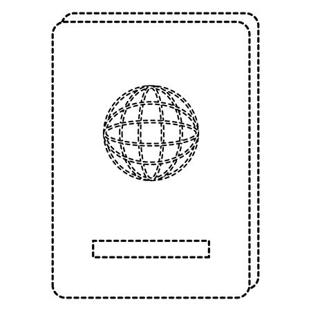 Progettazione dell'illustrazione di vettore dell'icona isolata documento del passaporto Archivio Fotografico - 88648173