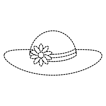 summer female hat with flowers vector illustration design Stock Vector - 88648184