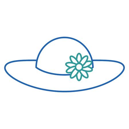 summer female hat with flowers vector illustration design Stock Vector - 88649284