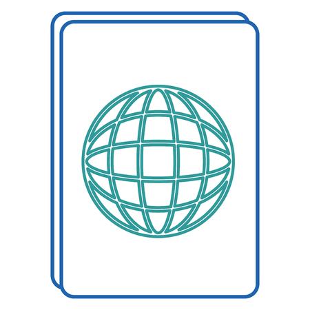 Progettazione dell'illustrazione di vettore dell'icona isolata documento del passaporto Archivio Fotografico - 88649320