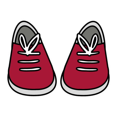 young shoes isolated icon vector illustration design