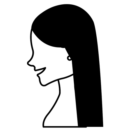Schöne Frau shirtless avatar Zeichen Vektor-Illustration Design Standard-Bild - 88573242