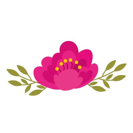 벚꽃의 성격 섬세한 꽃 잎 장식 벡터 일러스트 레이션