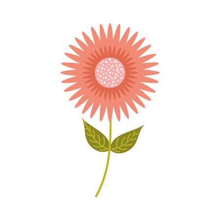 Een van de het ornamenttuin van het dahliabloem bloemen van de de bladerenstam vectorillustratie Stock Illustratie