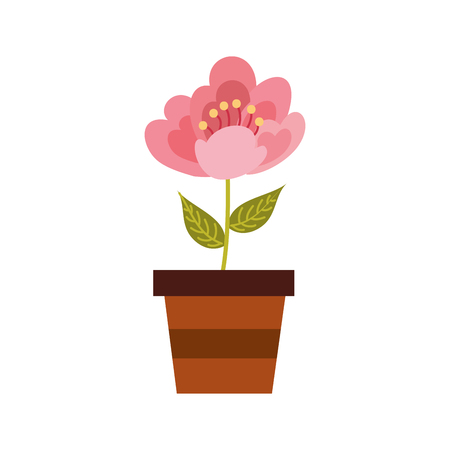 A potted cherry flower nature delicate bloom image vector illustration 向量圖像