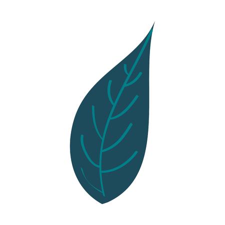 녹색 잎 자연 단풍 식물 식물 아이콘 벡터 일러스트