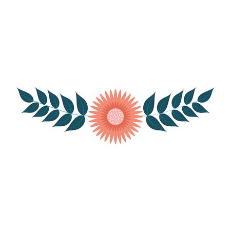 A dahlia flower floral ornament decoration vector illustration