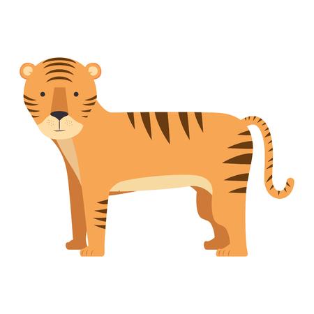 wild tiger isolated icon vector illustration design