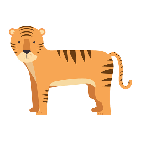 wild tiger isolated icon vector illustration design