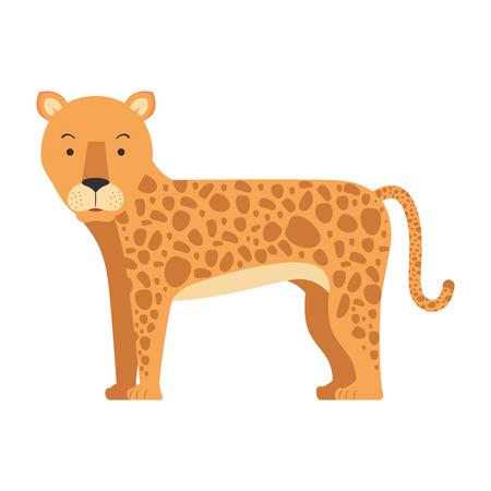 野生のヒョウ分離アイコン ベクトル イラスト デザイン  イラスト・ベクター素材