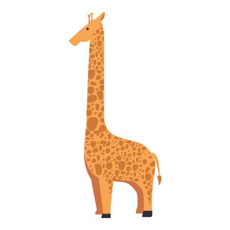 A wild giraffe isolated icon vector illustration design