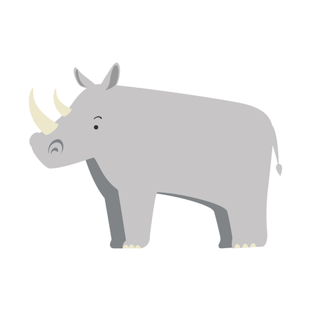 A wild rhinoceros isolated icon vector illustration design Иллюстрация