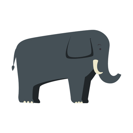 A wild elephant isolated icon vector illustration design 向量圖像