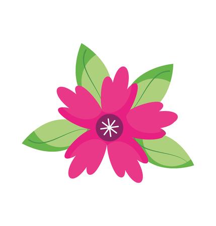 크 로커 스 꽃 단풍 잎 장식 벡터 일러스트 레이 션 일러스트