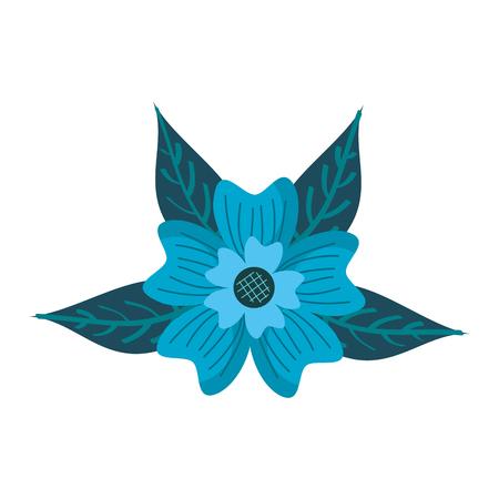 ニチニチソウ花の装飾品は、葉自然植物ベクターイラストを残します  イラスト・ベクター素材