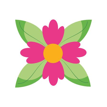 クロッカス花自然葉の葉の飾り飾りベクトルイラスト