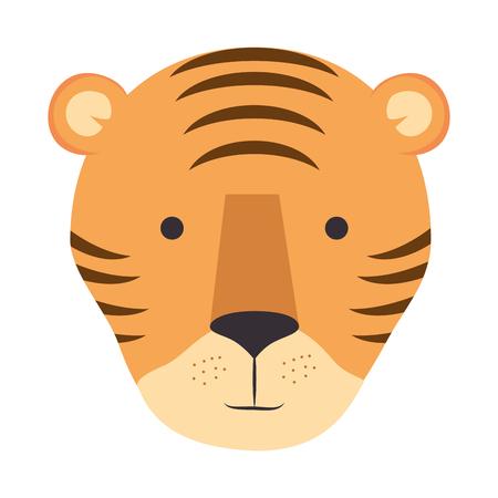 野生のトラの頭のアイコン ベクトル イラスト デザイン