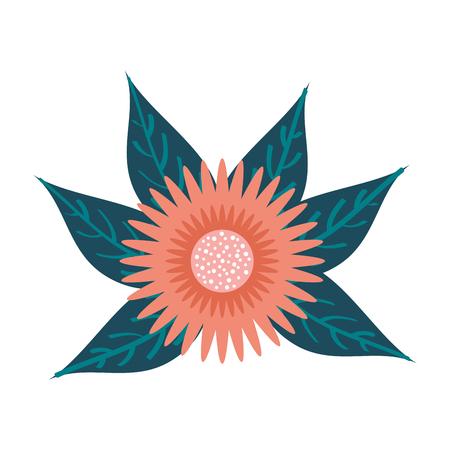 ダリアの花花柄葉オーナメントガーデンイメージベクトルイラスト  イラスト・ベクター素材