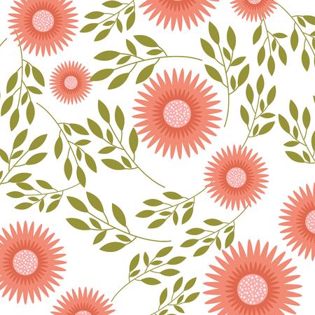 ダリア花フラワーオーナメントガーデンパターンベクトルイラスト