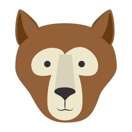 A wild bear kodiak head vector illustration design Illustration
