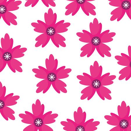 crocus 꽃 자연 장식의 장식 패턴 벡터 일러스트