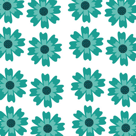 An aster flower natural petal decoration image pattern vector illustration