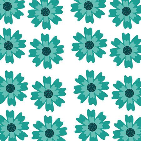 Een van het de bloemendecoratie van de asterbloem van het het beeldpatroon de vectorillustratie Stock Illustratie