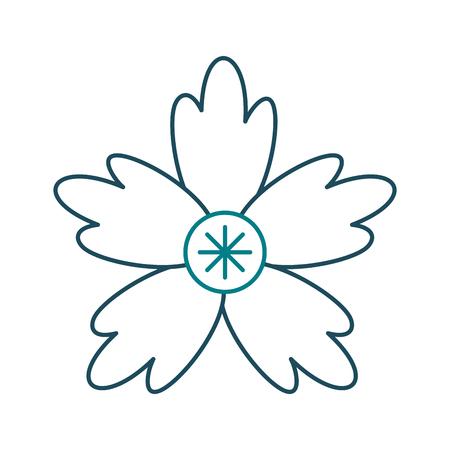 A crocus flower natural decoration ornament vector illustration Иллюстрация