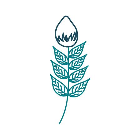 Een bloementuin groei knop natuurlijke afbeelding vectorillustratie