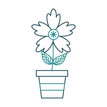 A potted crocus flower natural decoration ornament vector illustration