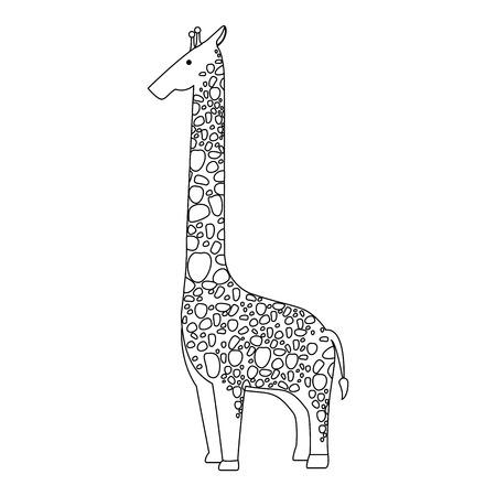 Una giraffa selvaggia isolato illustrazione vettoriale illustrazione Archivio Fotografico - 88617794