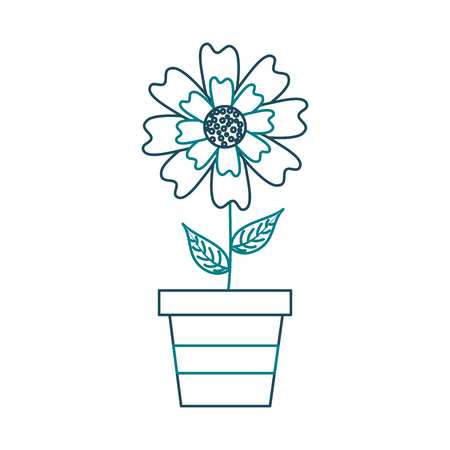 A potted aster flower natural petal decoration image vector illustration Иллюстрация