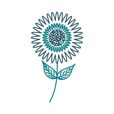 ダリア花の花飾り庭の花びら葉ステムベクトルイラスト