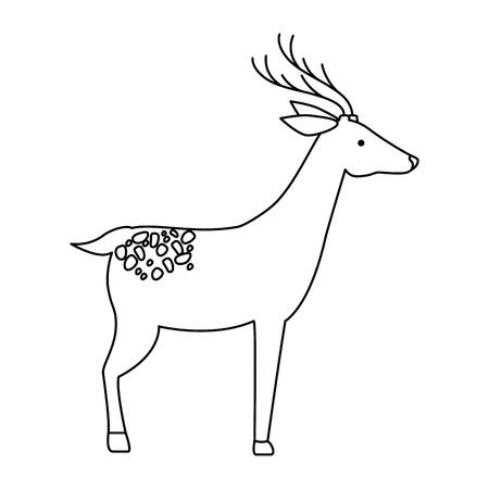 야생 사슴 절연 아이콘 벡터 일러스트 디자인 일러스트