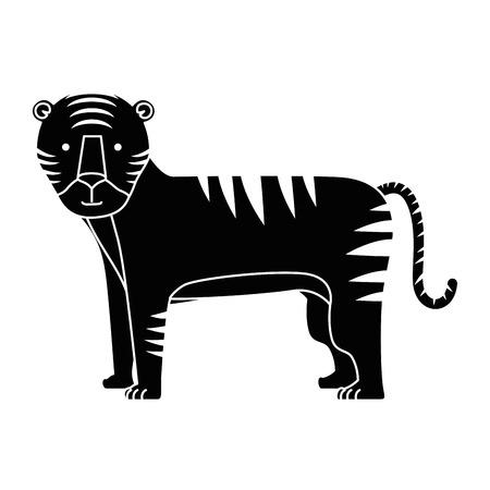 野生のトラのアイコン ベクトル イラスト デザインを分離しました。