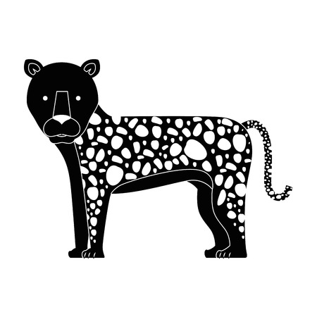 A wild leopard isolated icon vector illustration design