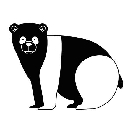 A wild bear panda icon vector illustration design