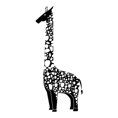 A wild giraffe isolated icon vector illustration design