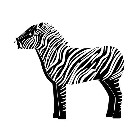 A wild zebra isolated icon vector illustration design